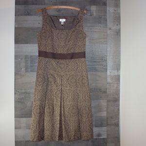 Ann Taylor Loft Green Vintage Sleeveless Dress 8